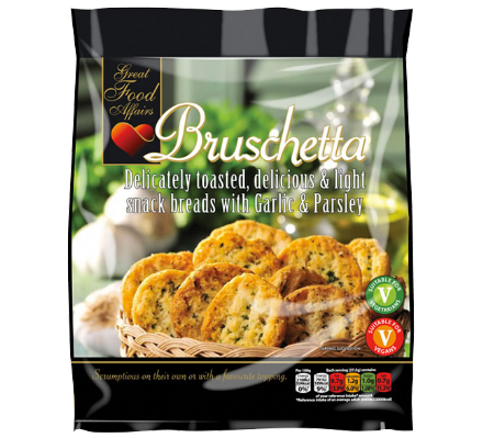 Bruschetta Snack Breads with Garlic & Parsley 12 x 150g by Great Food Affairs